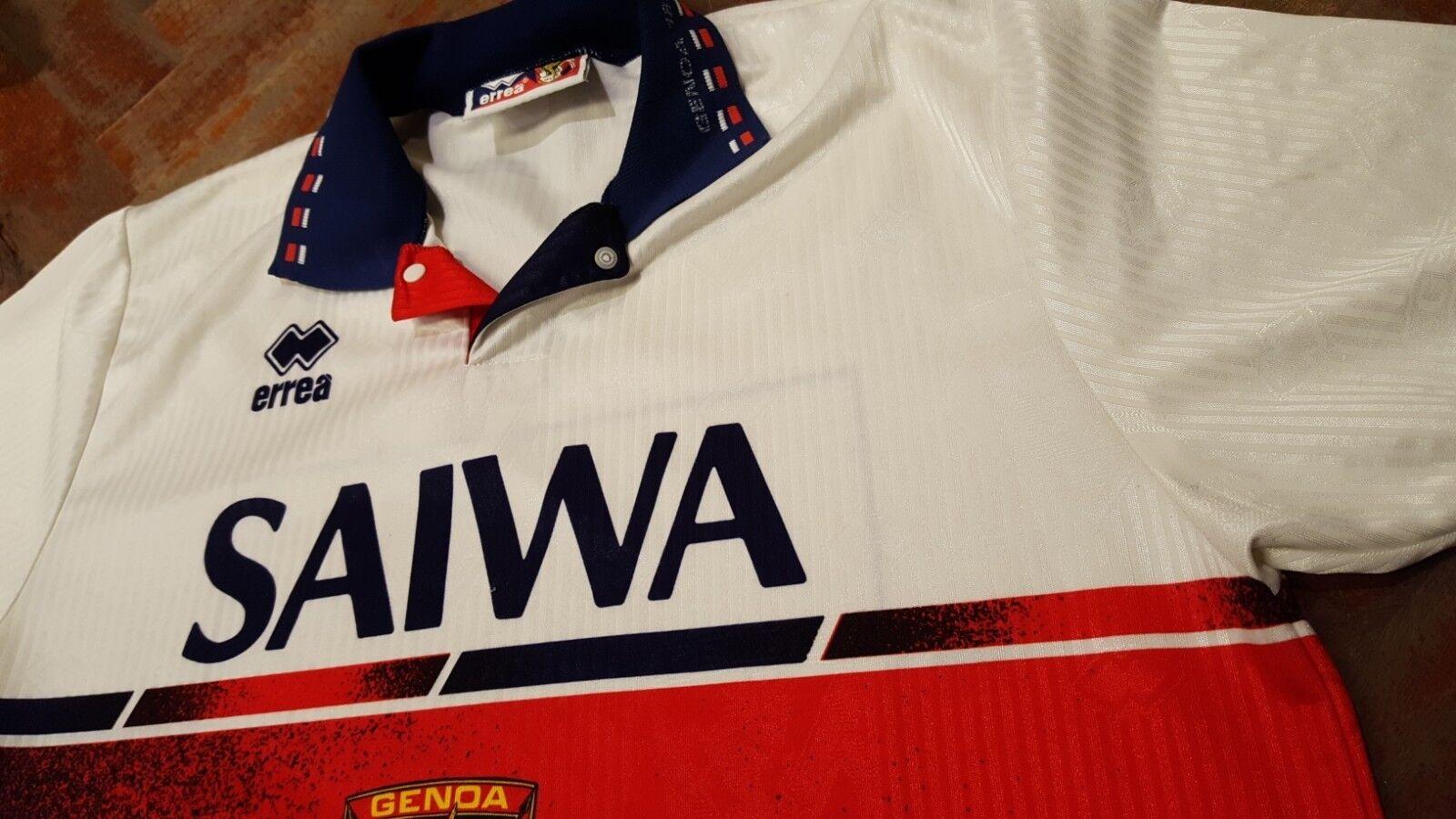 Maglia shirt Genoa Errea anni 90 Saiwa