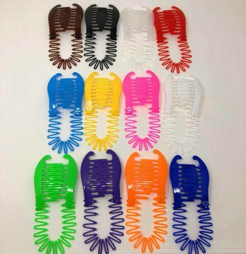 12 PCS Flexible Interlocking Banana Clip Clincher Interlocking Two Side Comb.