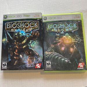 USED - BioShock 1 + 2 Microsoft Xbox 360 Lot of 2 - Bundle