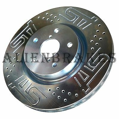 Brake Rotors FRONT+REAR ELINE SLOTTED S-Fits IMPREZA 06-07 WRX; Excluding Sti