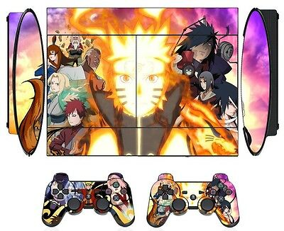 Naruto 274 Skin Sticker for PS3 PlayStation 3 Super Slim with 2 controller skins