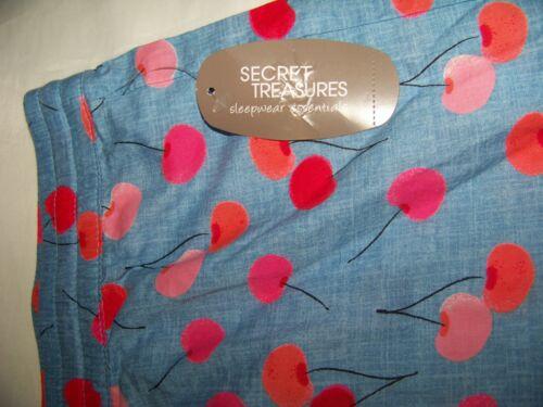 L Secret Treasures Women/'s Poplin Shorts Szs XXXL Blue Paradise Cherrie XL S
