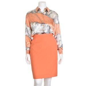 Escada-Margaretha-Ley-830-Peach-Abstract-Print-100-Silk-Blouse-Shirt-Top-38-8