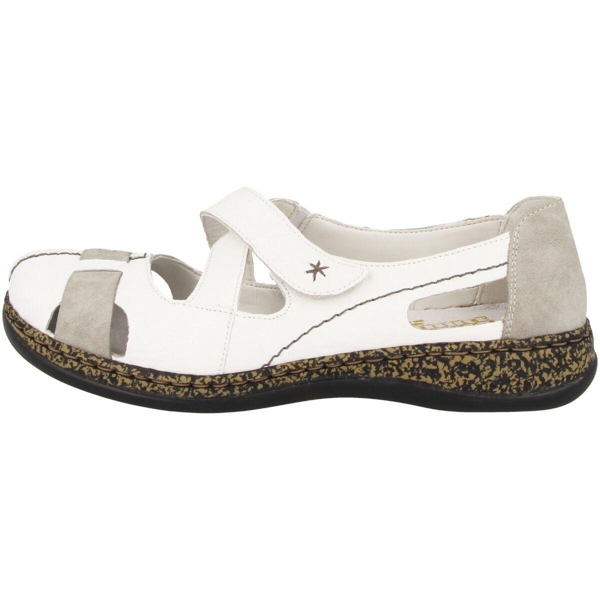 Rieker sandali MASSA scarpe donna ballerina sandali Rieker pantofola BIANCO Combination 178d6f