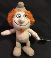 Smurfs 9 In. Plush Smurf Doll Gray With Red Hair