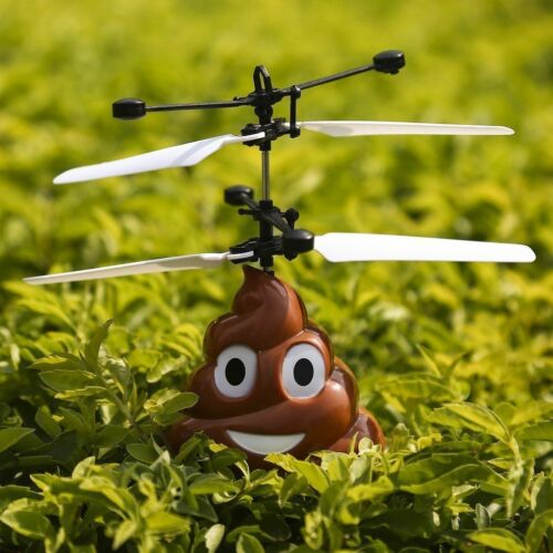 Toys for 3 4 5 6 7 8 9 Years Old Boys Fun Poop Design Flying Helicopter