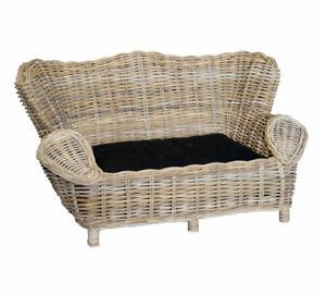 Rattan-Grey-Pet-Sofa-Bed-Luxury-Cushion-High-End-Quality-Full-Core-Rattan-Grey