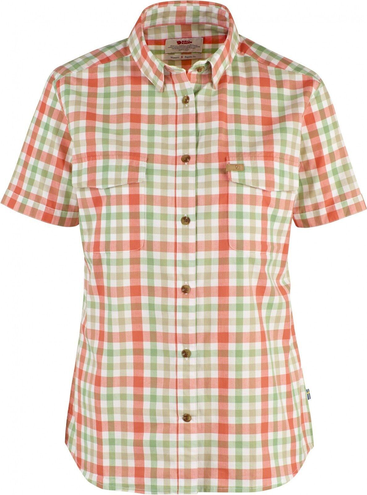 Fjäll  Räven Övik Shirt Women's, Coral, Short-Sleeved Ladies Shirt  free shipping worldwide