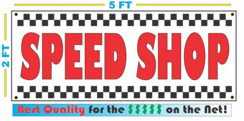 SPEED SHOP All Weather Banner Sign 2x5