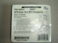 Fgv-2dcv Two Gang Grey Weatherproof Cover For 2 Gfci Receptacles