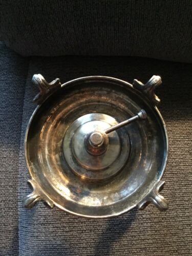 Vintage Silver Plated Chafing Dish Stand & Alcohol Burner