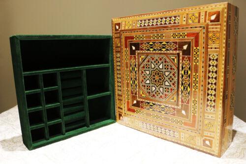 Bois Bijoux encadré artisanat K 2-2-49 non incluse subdivision Box