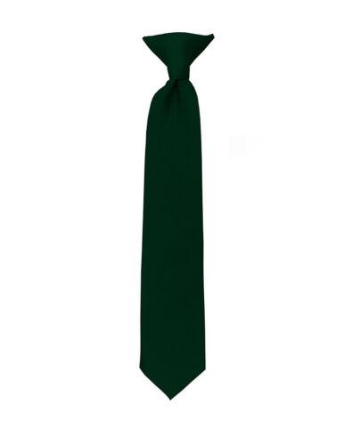 Manzini® Neck Wear Boys/' Kids/' Children/'s Solid Pre Tied Ready to Clip On Tie