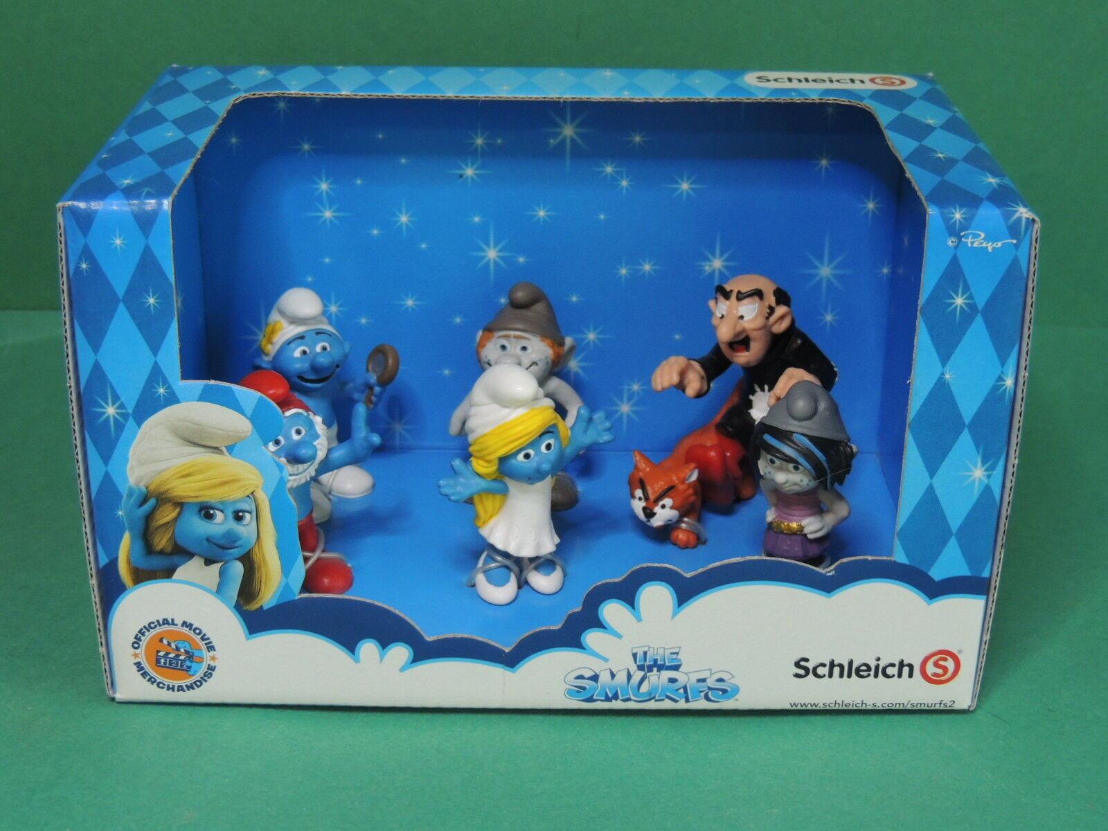 41339 Schtroumpf Set du film 2 The Smurfs II Schleich in 3D Movie Schleich II Smurf figurine 37297a