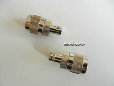 BNC to N type Male Adaptor Converter Connector x 2 Quantity