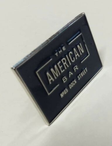 The American Bar Belfast pin badge public house Ireland Docks Irish traditional