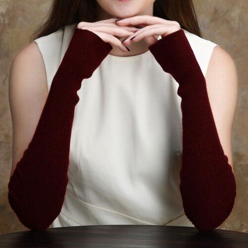 Laine pour femme Mitaines Hommes Knit Paire bras Poignet Mitaines 1 longues chaudes HIVER