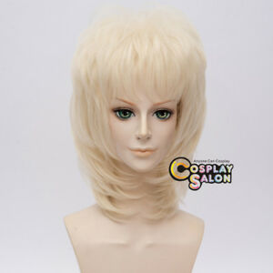 40cm-Drag-Style-Halloween-Light-Blonde-Wavy-Cosplay-Anime-Wig-Free-Cap