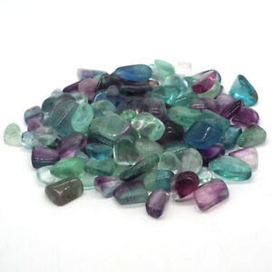200g-Natural-Gemstone-Fluorite-Reiki-Healing-Polished-Tumbled-Stones-Minerals