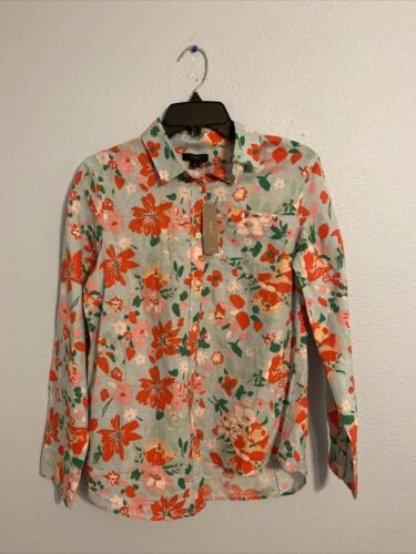 J Crew Size S Womens NWT Shirt Blouse Button Up Floral