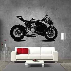Image Is Loading Ducati 1199 Corse Motorcycle Vinyl Sticker Wall Art