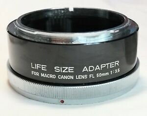 [Excellent+++] Canon Life Size Adapter For Canon FL 50mm f/3.5 From Japan #084