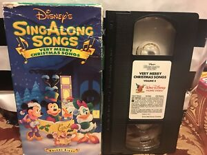 Disney's Sing Along Very Merry Christmas Songs Volume 8 VHS Video V8 | eBay