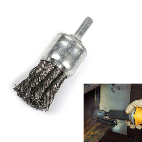 """0.020mm Wire Knot End Brush Stainless Steel With 1//4/"""" Shank For Die Grinder Dril"""