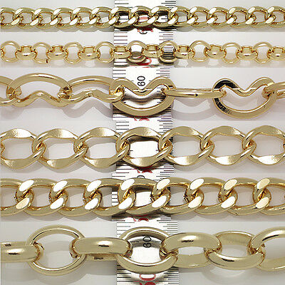Metal Gold plated chains Series DIY stuffs