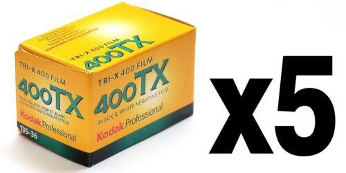 Pellicola 35mm Rullino BN Bianco e Nero Kodak Tri-X TX400 TX 400 135-36 5pz.