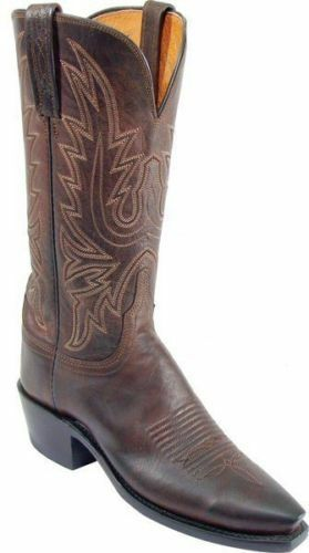 Women's 1883 By Lucchese Western Boots N4554 5 4 Chocolate Mad Dog Goat Leather