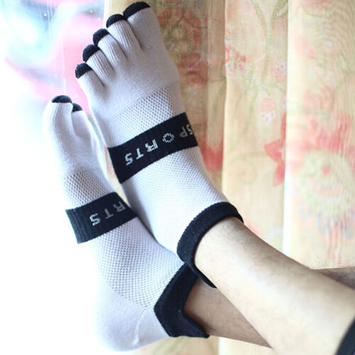 Hot New Men/'s Women/'s Socks Pure Cotton Sports Five Finger Socks Toe Socks ^P