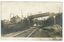 RPPC Lewisburg Tyrone Railroad SPRING MILLS PA Centre County Real Photo Postcard