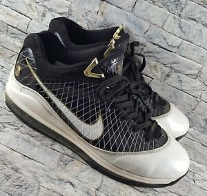 low priced be008 344cb Image is loading Nike-Air-Max-Lebron-VII-7-Black-White-