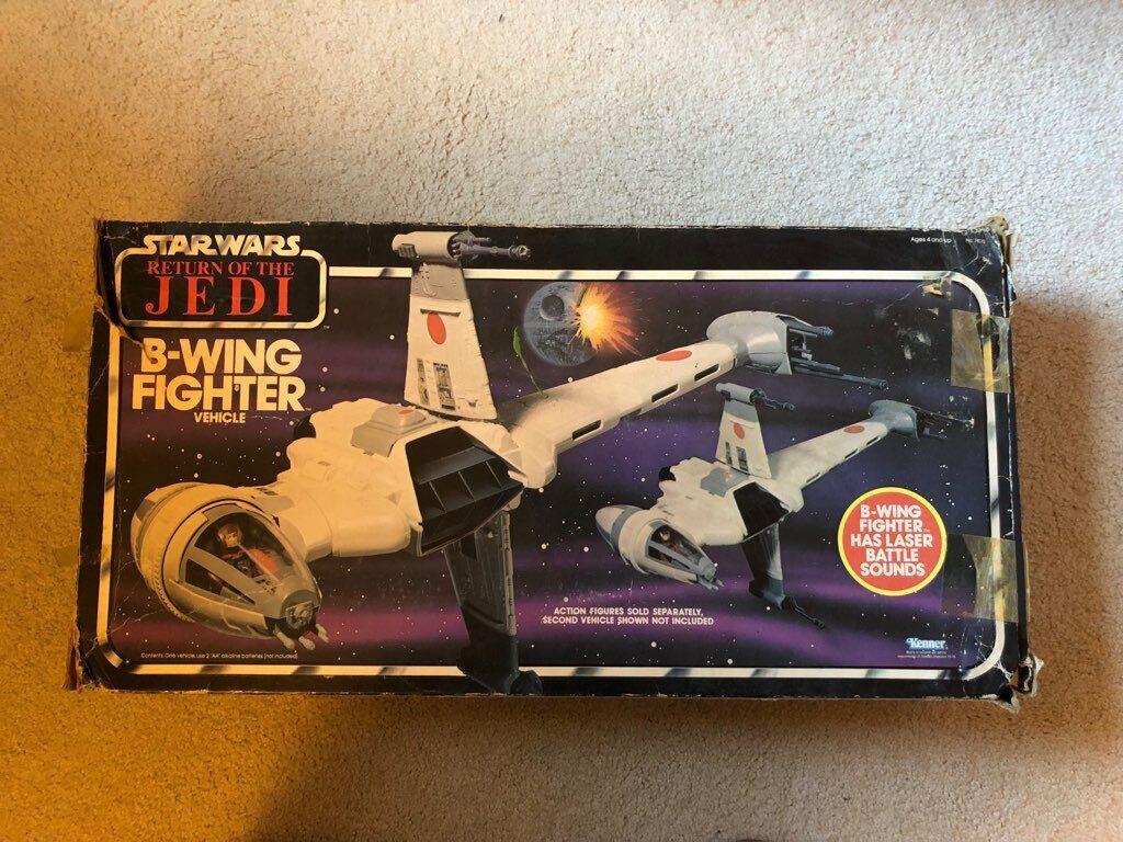 Star Wars B-WING Fighter Vintage Action Figure Vehicle ROTJ Kenner 1983