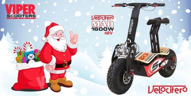 Velocifero Mad New 2018 Model, 1600W 48V Electric Scooter , Terrain Tyres, VS