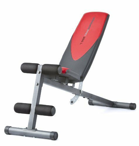 Weider Pro 255 L WORKOUT BENCH, Slant Dumbbells & Weight FITNESS EXERCISES