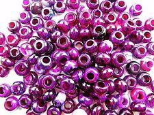 30PCS 14x9mm black purple dragon veins agate large hole beads Vk5571 3