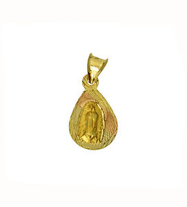 Fine Necklaces & Pendants 14K 2 Tone Gold Dia-Cut Religious Jesus Stamp Charm Pendant