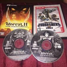 UNREAL II THE AWAKENING & UNREAL TOURNAMENT 2003 & unreal tournament PC CD ROMS