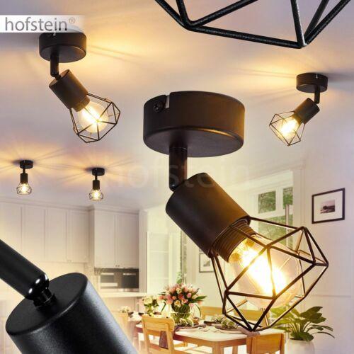 runde Decken Lampen schwarz Flur Strahler Retro Wohn Schlaf Zimmer Beleuchtung