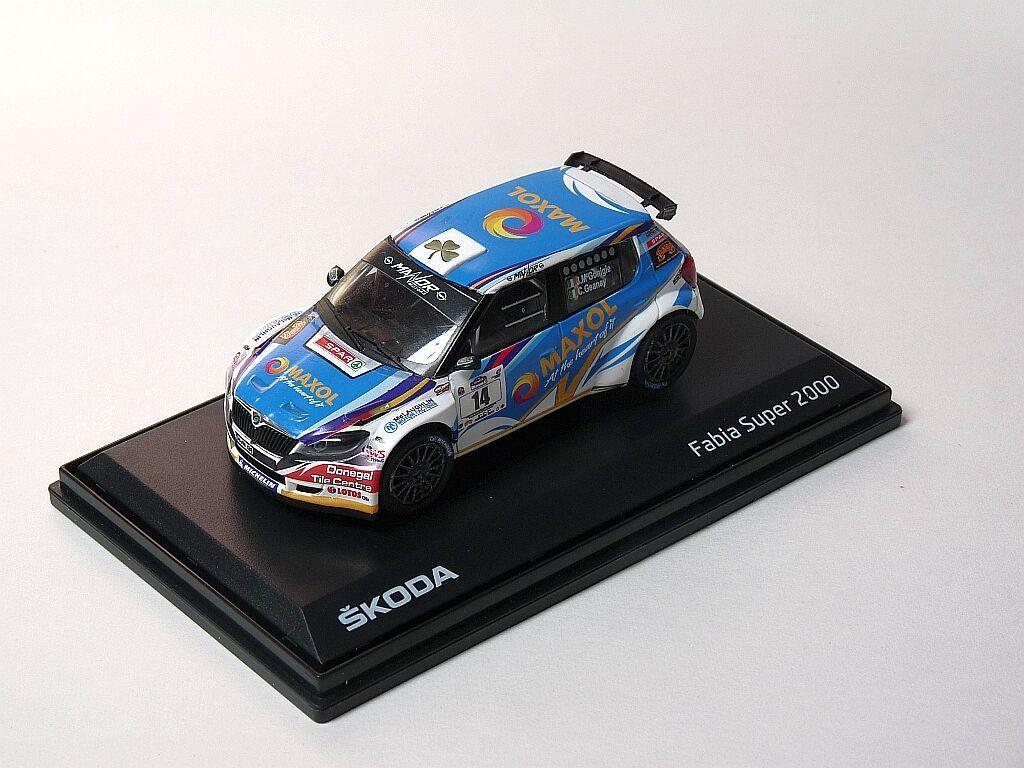 Josph Mc Gonigle SKODA FABIA S2000  Galway Rally 2016 1 43 code 3 model  de gros