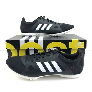 Details about Adidas Boost Adizero Mid Distance Mens Track Field Shoe Spike Black Size 10.5