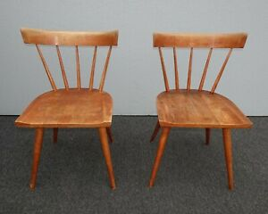 Details About Pair Vintage Mid Century Paul Mccobb Planner Group Chairs W Spindle Backrests