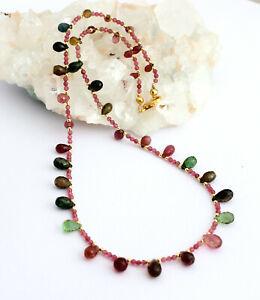 Esclusivo Multicolore Collana Tormalina Preziose Sfaccettato 1 A Qualità 51cm