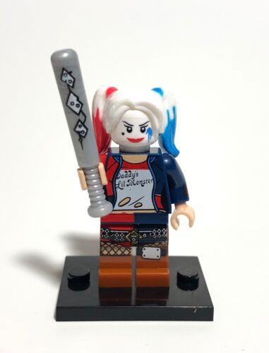 Custom Harley Quinn Apocalypseburg With Bat Minifigure  Building Blocks