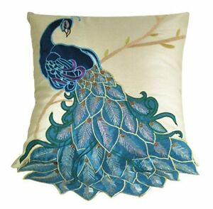 New-Vintage-Vivid-Peacock-Embroidery-Decorative-Throw-Pillow-Case-Cushion-Cover