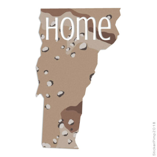 Vermont Home State Decal Sticker Choose Pattern Size #3847