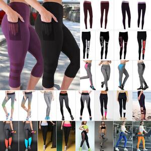 066b2e94620cce Image is loading Women-High-Waist-Yoga-Fitness-Legging-Running-Gym-
