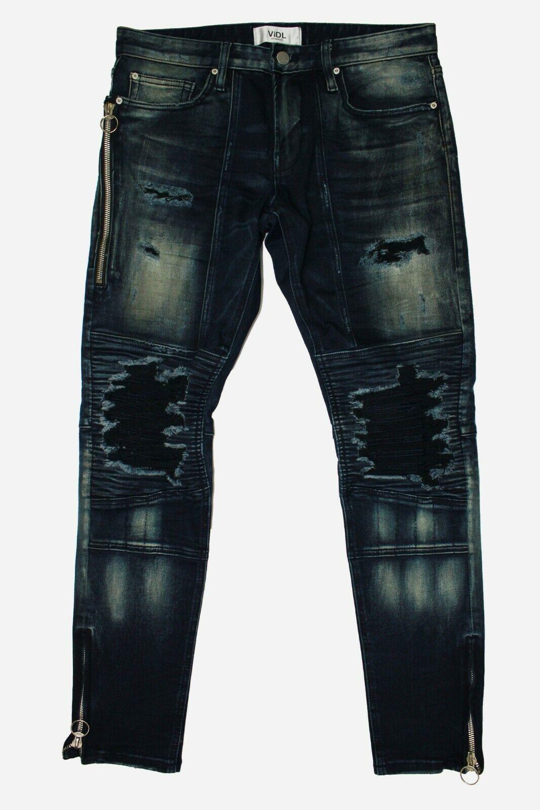 Mens VIDL Los Angeles Naval Chopper Premium Denim Jeans